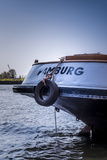 Germany, Hamburg, Elbe, Harbor, Barge Fotografie-Druck von Ingo Boelter
