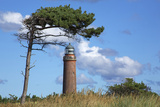 """Lighthouse Darsser Ort Boat and """"Windswept Trees"""" - Jaw on the Western Beach of Darss Peninsula, Photographic Print by Uwe Steffens"""