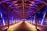 Pier at 'Stage Theater Im Hafen Hamburg' in the Evening Blueport Illumination Photographic Print by Uwe Steffens