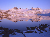 Norway, Jotunheimen National Park, Winter Evening on a Lake in Sognefjell, View Smorstab Glacier Photographic Print by K. Schlierbach