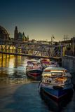 Germany, Hamburg, Elbe, Harbor, Jetties, Barge Reproduction photographique par Ingo Boelter