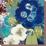 Garden Blues III Stretched Canvas Print by Leslie Bernsen