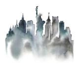 Cityscape New York Giclee Print by Kristine Hegre