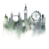 Cityscape London Giclee Print by Kristine Hegre