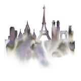 Cityscape Paris Giclee Print by Kristine Hegre