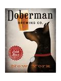 Doberman Brewing Company NY Premium Giclée-tryk af Ryan Fowler