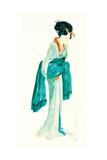 Geisha II Bright Crop Schilderijen van Chris Paschke