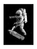 Kickflip in Space Prints by Robert Farkas