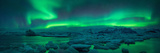 Aurora borealis above Jokulsarlon glacier lagoon, Iceland Fotografisk trykk