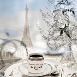Bistro de Paris 1 Fotografie-Druck von Alan Blaustein