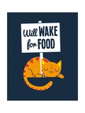 Will Wake for Food Pôsters por Michael Buxton