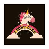 Unicorn Don't Care Arte por Michael Buxton