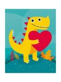 Dino Love Pôsters por Michael Buxton