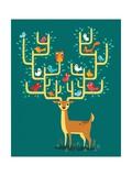 Antler City Posters por Michael Buxton