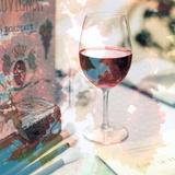 Bordeaux Vineyard Cafe 1 Lámina fotográfica por Alan Blaustein
