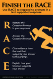 Finish the RACE - Responding to Prompts Poster von  Gerard Aflague Collection
