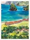 Kalaupapa - Hawaiian Island Molokai - Father Damien Leper Settlement Posters av Peggy Chun