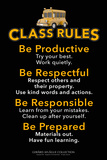 Class Rules Poster von  Gerard Aflague Collection
