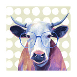Bespectacled Bovine II Premium Giclee Print by Victoria Borges