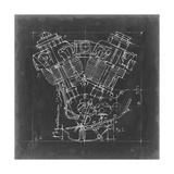 Motorcycle Engine Blueprint I Affiches par Ethan Harper