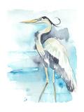 Heron Splash II Premium Giclee Print by Jennifer Goldberger