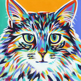 Dramatic Cats I Poster di Carolee Vitaletti