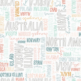 World Traveler Pattern I Art by Laura Marshall