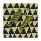 Geo Veggies IV Premium Giclee Print by Emma Scarvey