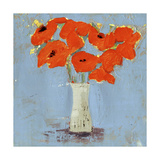 Orange Poppy Impression I Poster par Victoria Borges