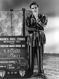A STREETCAR NAMED DESIRE, 1951 directed by ELIA KAZAN with Marlon Brando (b/w photo) Photo