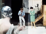 Blow-up by Michelangelo Antonioni (1912 - 2007) with David Hemmings, Peggy Moffitt, 1966 (photo) Photo