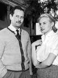 BABY DOLL, 1956 On the set, Eli Wallach and Carroll Baker (b/w photo) Foto