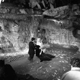 Marcello Mastroianni and Anita Ekberg, La Dolce Vita, Federico Fellini, 1960 (b/w photo) Foto