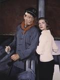 John Wayne / Lauren Bacall BLOOD ALLEY, 1955 directed by WILLIAM A. WELLMAN (photo) Foto