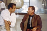 Sean Connery and Ian Fleming during the filming of Dr. No, 1962 (photo) Foto von  English Photographer