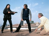 FOR YOUR EYES ONLY, 1981 directed by JOHN GLEN Carole Bouquet, Roger Moore and Julian Glover (photo Photo
