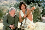 CLASH OF THE TITANS, 1981 directed by DESMOND DAVIS Burgess Meredith and Harry Hamlin (photo) Photo