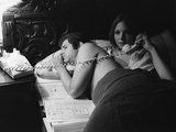 Tony Roberts and Diane Keaton PLAY IT AGA SAM, 1972 directed by Woody Allen (b/w photo) Photo