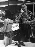 Dr STRANGELOVE, 1964 directed by STANLEY KUBRICK George C. Scott (b/w photo) Photo