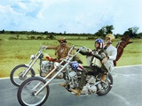 Easy Rider by DennisHopper with Dennis Hopper, Peter Fonda and Jack Nickolson, 1969 (motos Harley D Photo