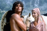 CLASH OF THE TITANS, 1981 directed by DESMOND DAVIS Harry Hamlin and Judi Bowker (photo) Photo