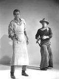 THE MAN WHO SHOT LIBERTY VALANCE, 1962 directed by JOHN FORD James Stewart and John Wayne (b/w phot Foto