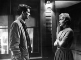 PSYCHO, 1960 directed by ALFRED HITCHCOCK Anthony Perkins / Janet Leigh (b/w photo) Foto