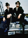 THE BLUES BROTHERS, 1980 directed by JOHN LANDIS Dan Aykroyd and John Belushi (photo) Photo