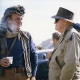John Wayne and John Ford sur le tournage du film Alamo by JohnWayne, 1960 (photo) Foto