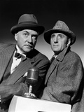 SHERLOCK HOLMES Nigel Bruce and Basil Rathbone (b/w photo) Foto