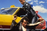 MAD MAX, 1979 directed by GEORGE MILLER Mel Gibson and Hugh Keays-Byrne (photo) Photo