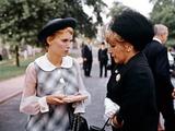 ROSEMARY'S BABY, 1968 directed by ROMAN POLANSKI Mia Farrow and Landy Hanna (photo) Foto
