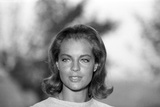 La Piscine by Jacques Deray with Romy Schneider, 1969 (b/w photo) Foto