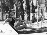 La Piscine by Jacques Deray with Romy Schneider, 1969 (chaise longue by la serie Module 400 by Roge Photo